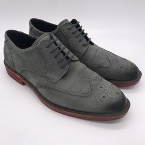 ECCO Brogue Derby Oxford Leather Dress Shoes